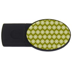 Abstract Knot Geometric Tile Pattern USB Flash Drive Oval (4 GB)  by creativemom