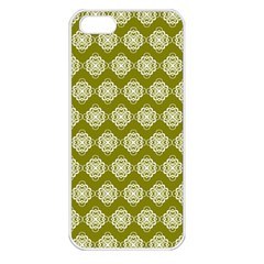 Abstract Knot Geometric Tile Pattern Apple Iphone 5 Seamless Case (white) by creativemom