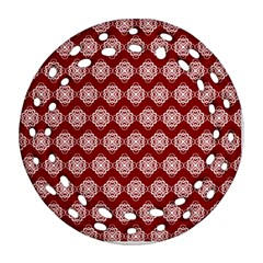 Abstract Knot Geometric Tile Pattern Round Filigree Ornament (2side) by creativemom