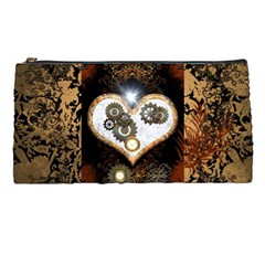 Steampunk, Awesome Heart With Clocks And Gears Pencil Cases by FantasyWorld7