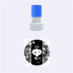 Steampunk, Awesome Heart With Clocks And Gears Rubber Round Stamps (small)