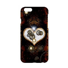 Steampunk, Awesome Heart With Clocks And Gears Apple Iphone 6/6s Hardshell Case by FantasyWorld7