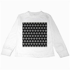 Abstract Knot Geometric Tile Pattern Kids Long Sleeve T Shirts by creativemom