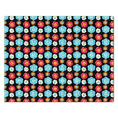 Colorful Floral Pattern Rectangular Jigsaw Puzzl by creativemom