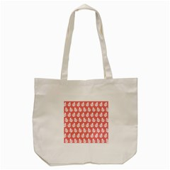 Coral And White Lady Bug Pattern Tote Bag (Cream)  by creativemom