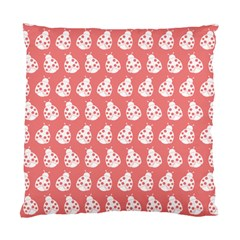 Coral And White Lady Bug Pattern Standard Cushion Case (one Side)  by creativemom