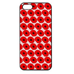 Red Peony Flower Pattern Apple Iphone 5 Seamless Case (black) by creativemom