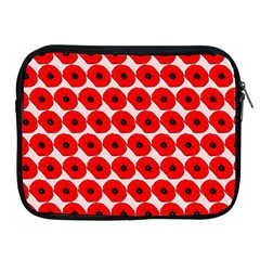 Red Peony Flower Pattern Apple iPad 2/3/4 Zipper Cases by creativemom