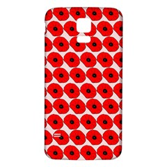 Red Peony Flower Pattern Samsung Galaxy S5 Back Case (white) by creativemom