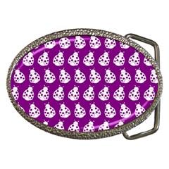 Ladybug Vector Geometric Tile Pattern Belt Buckles by creativemom