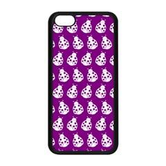 Ladybug Vector Geometric Tile Pattern Apple Iphone 5c Seamless Case (black) by creativemom