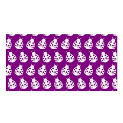 Ladybug Vector Geometric Tile Pattern Satin Shawl