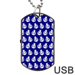 Ladybug Vector Geometric Tile Pattern Dog Tag USB Flash (One Side) by creativemom