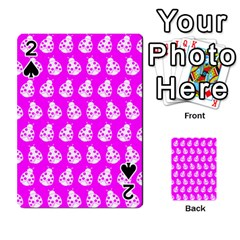 Ladybug Vector Geometric Tile Pattern Playing Cards 54 Designs