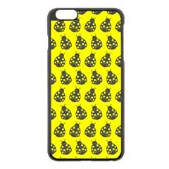 Ladybug Vector Geometric Tile Pattern Apple Iphone 6 Plus Black Enamel Case by creativemom