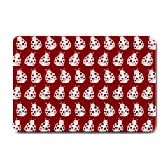Ladybug Vector Geometric Tile Pattern Small Doormat  by creativemom