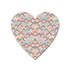 Trendy Chic Modern Chevron Pattern Heart Magnet by creativemom