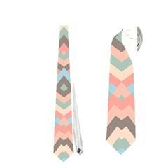 Trendy Chic Modern Chevron Pattern Neckties (two Side)  by creativemom