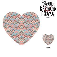 Trendy Chic Modern Chevron Pattern Multi Purpose Cards (heart)