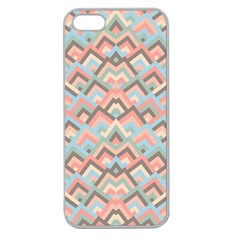 Trendy Chic Modern Chevron Pattern Apple Seamless Iphone 5 Case (clear) by creativemom