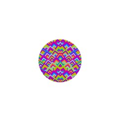 Colorful Trendy Chic Modern Chevron Pattern 1  Mini Buttons by creativemom