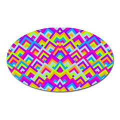Colorful Trendy Chic Modern Chevron Pattern Oval Magnet by creativemom
