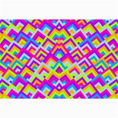 Colorful Trendy Chic Modern Chevron Pattern Collage 12  X 18  by creativemom