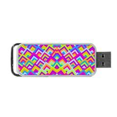 Colorful Trendy Chic Modern Chevron Pattern Portable Usb Flash (one Side) by creativemom