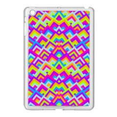 Colorful Trendy Chic Modern Chevron Pattern Apple iPad Mini Case (White) by creativemom