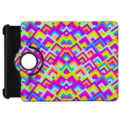 Colorful Trendy Chic Modern Chevron Pattern Kindle Fire Hd Flip 360 Case by creativemom