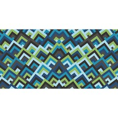 Trendy Chic Modern Chevron Pattern You Are Invited 3d Greeting Card (8x4)