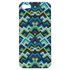 Trendy Chic Modern Chevron Pattern Apple Iphone 5 Hardshell Case by creativemom