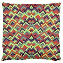 Trendy Chic Modern Chevron Pattern Standard Flano Cushion Cases (one Side)  by creativemom
