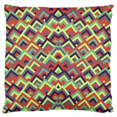Trendy Chic Modern Chevron Pattern Large Flano Cushion Cases (two Sides)  by creativemom
