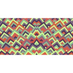 Trendy Chic Modern Chevron Pattern You Are Invited 3d Greeting Card (8x4)  by creativemom