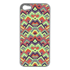 Trendy Chic Modern Chevron Pattern Apple Iphone 5 Case (silver) by creativemom