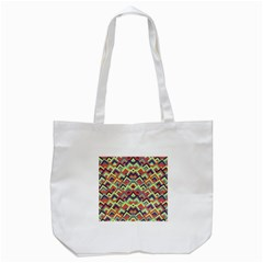 Trendy Chic Modern Chevron Pattern Tote Bag (white)  by creativemom