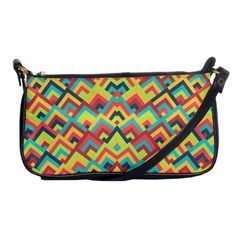Trendy Chic Modern Chevron Pattern Shoulder Clutch Bags by creativemom