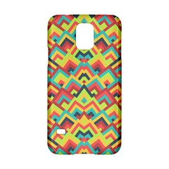 Trendy Chic Modern Chevron Pattern Samsung Galaxy S5 Hardshell Case  by creativemom