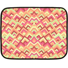 Trendy Chic Modern Chevron Pattern Fleece Blanket (mini)