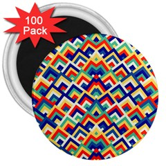 Trendy Chic Modern Chevron Pattern 3  Magnets (100 Pack) by creativemom