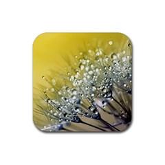 Dandelion 2015 0713 Rubber Coaster (square)  by JAMFoto