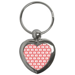 Modern Chic Vector Camera Illustration Pattern Key Chains (heart)  by creativemom