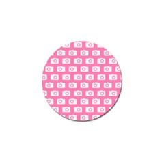 Pink Modern Chic Vector Camera Illustration Pattern Golf Ball Marker (4 Pack) by creativemom