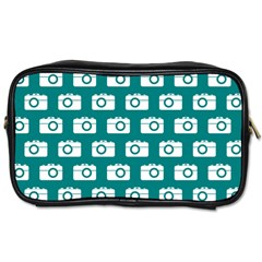 Modern Chic Vector Camera Illustration Pattern Toiletries Bags 2-Side by creativemom