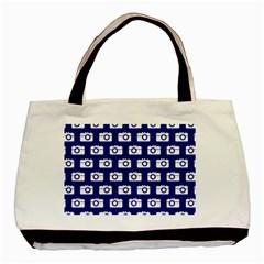 Modern Chic Vector Camera Illustration Pattern Basic Tote Bag  by creativemom