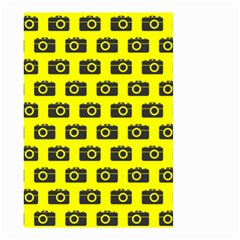 Modern Chic Vector Camera Illustration Pattern Small Garden Flag (two Sides) by creativemom