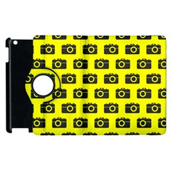 Modern Chic Vector Camera Illustration Pattern Apple Ipad 3/4 Flip 360 Case by creativemom