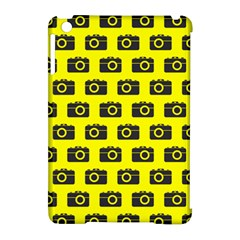 Modern Chic Vector Camera Illustration Pattern Apple Ipad Mini Hardshell Case (compatible With Smart Cover) by creativemom