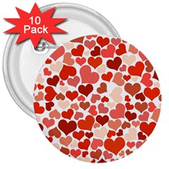 Heart 2014 0901 3  Buttons (10 Pack)  by JAMFoto